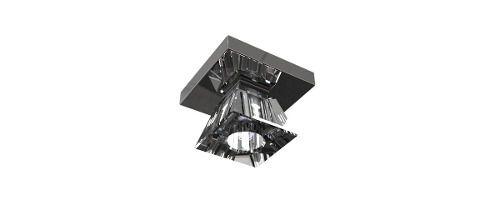 Spot Inox Cristal Legítimo 12x12 Luminária Sala Salão Estar Comercial Quarto Pf821/1 New