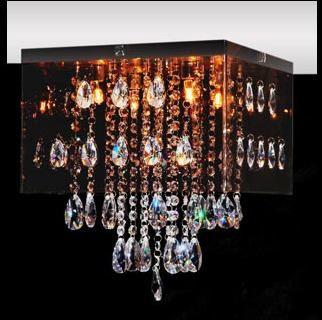 Plafon Cristal Legítimo 30x30 Luminária Sala Salão Estar Comercial Quarto 2131 Torres