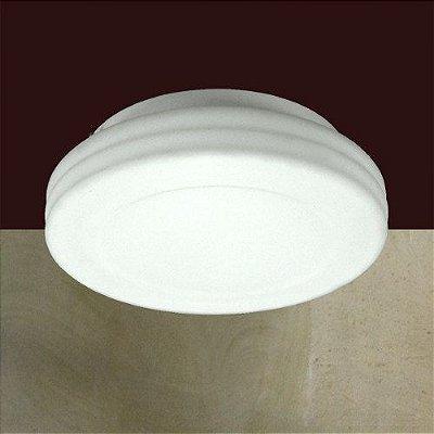 Plafon Redondo Branco Vidro Opalino Sobrepor Espiral Ø31 Balih Golden Art E-27 T930 Quartos e Salas