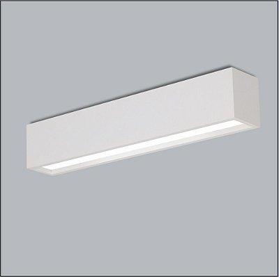 Plafon Sobrepor Retangular Alumínio Acrílico Leitoso 7,5x65 Tropical Usina Design T8 4005/65f Salas e Escritório