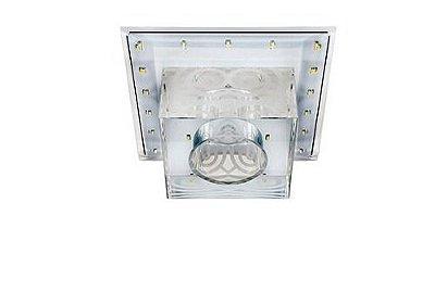 Plafon Quadrado Embutido Cristal Transparente Power Teto Quarto Hall Loja Comercial Zg219 Luciin