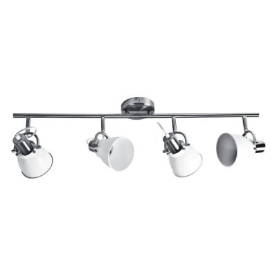 Spot Trilho Moderno Inmilano Escovado Branco Sala Comercial Decorativo Cf094/2 Luciin