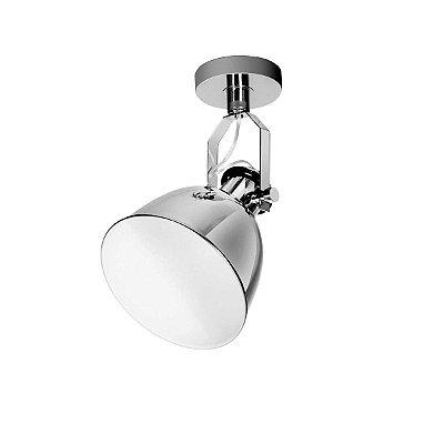 Spot Único Incoppa Escovado Prata Decorativo Sala Quarto Cf141/1 Luciin