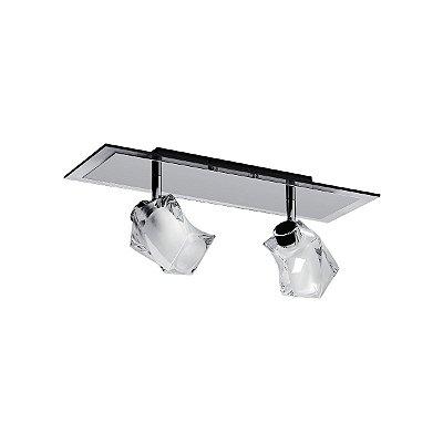 Spot Inbarletta Sofisticado Duplo Vidro Cristal Sala Quarto Estúdio Loja Je060 Luciin