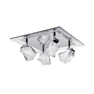 Spot Painel Inbarletta Sofisticado Vidro Cristal Sala Cozinha Decorativo Je062 Luciin