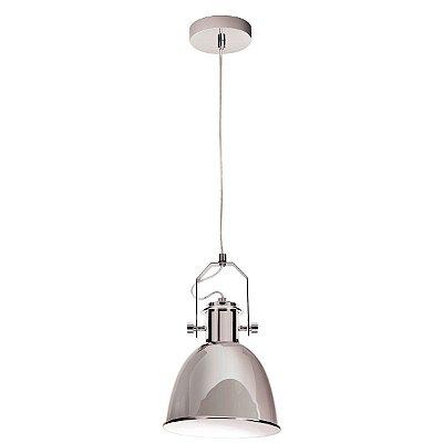 Pendente Ajustável Alumínio Escovado Redondo Decorativo 21x35 InCoppa Luciin E-27 Cf142/1 Cozinhas e Salas