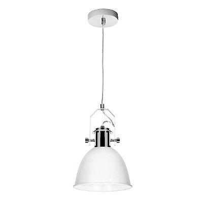 Pendente Vertical Ajustável Alumínio Branco Decorativo 21x35 InCoppa Luciin E-27 Cf142/3 Cozinhas e Salas
