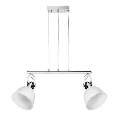 Pendente Inox Branco Duplo Decorativo 60x35 InCoppa Luciin E-27 Cf143/3 Cozinhas e Salas