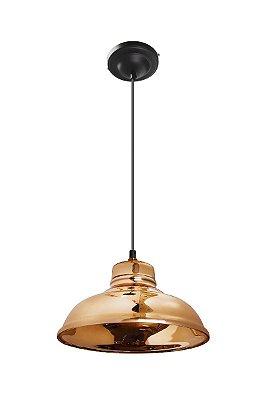 Pendente Vertical Redondo Dourado Decorativo Tom Dixon 28x15 InZuppiera Luciin E-27 Zg173/13 Quartos e Salas