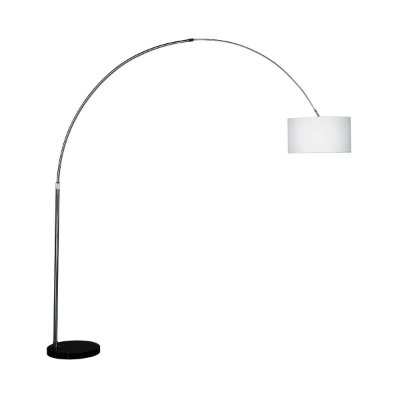 Luminaria Incalabria Abajur Coluna Piso Branco Tecido Sala Escritório Cf105/3 Luciin