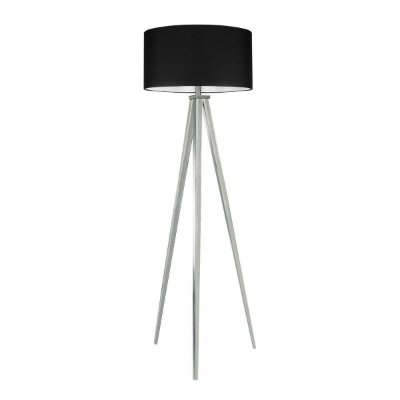 Luminaria Indritto Abajur Coluna Preto Tecido Tripé Sala Piso Decorativo  Cf129/2 Luciin