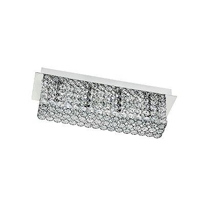 Arandela Interna Retangular Cristal Transparente K9 Decorativa 45x13 Più Inalveare Luciin G9 Cf112 Corredores e Quartos