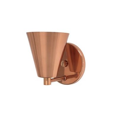 Arandela Mix Metal Cônica Alumínio Cobre Rosê Gold Bivolt Ø11cm E-27 Eletrônica Munclair 2278 Corredores e Entradas