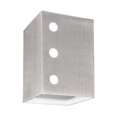 Arandela Mix Metal Decorativa Cubo Foco e Luz Frontal Bivolt 10x15cm G9 Halopin Munclair 2312 Corredores e Quartos