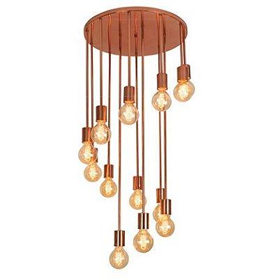 Plafon Redondo Agni Cacho Moderno Espiral Bivolt Ø48cm Filamento LED Munclair 3387 Cozinhas e Salas