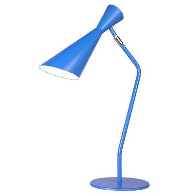 Abajur Luminária de Mesa Zig Zag Colorido Direcionável Bivolt Ø11x30cm E-27 Eletrônica Munclair 7280 Escritórios e Quartos