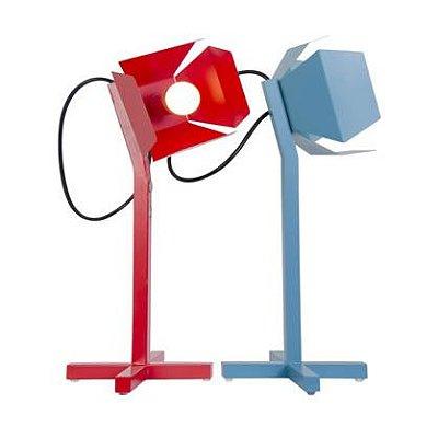 Abajur Luminária de Mesa Octa Moderno Colorido Articulado 45cm E-27 Eletrônica Munclair 7297 Escritórios e Quartos
