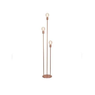 Abajur Coluna Agni Decorativo Bronze Lâmpada Retrô Bivolt 1,48m E-27 Eletrônica Munclair 9593 Escritórios e Salas