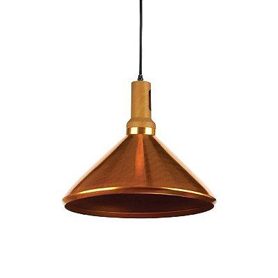 Pendente Dakini Decorativo Prato Dourado Alumínio Bivolt Ø36cm Bulbo Stella SD8554 Balcões e Cozinhas