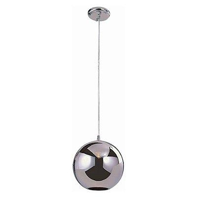 Pendente Vertical Decorativo Vidro Cromado Translúcido Artesanal Bivolt Ø25cm Bulbo Stella SD8125 Balcões e Cozinhas
