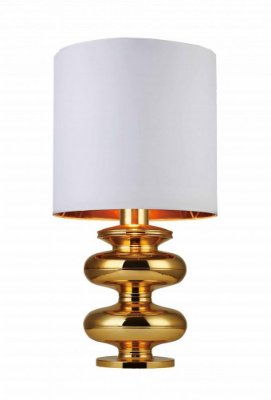 Abajur Aesir Metal Dourado Moderno Cupula 83x40cm Mantra 1 E27 30182 Salas e Quartos