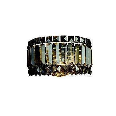 Arandela Mesi Cristal Conhaque Lapidado 13x20cm Mantra 30088 Corredores e Salas