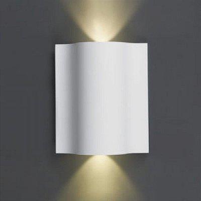 Arandela Dual Metal Quadrada Branca 13x11cm Mantra LED 10W 30161 Corredores e Salas