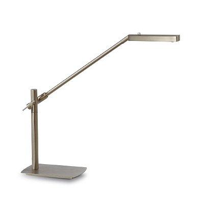 Abajur Luminária de Mesa Pukhet Dimerizavel Satinado Níquel 10x43cm Mantra 1 LED 7W Bivolt 4948 Mesas e Quartos