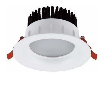 Spot Embutido Downlight Moonshadow Branco LED 9,5x15cm Mantra LED 18W Bivolt 30145 Salas e Comercial