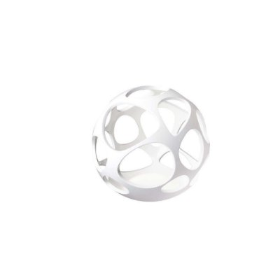 Abajur Coluna Luminária de Piso Esfera Polimero Branco 51,3x55cm Mantra 3 E27 20W Bivolt 5146 Salas e Halls