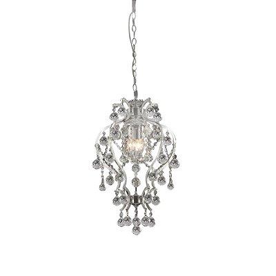 Lustre Pendente Gretah Cromado Cristal Transparente 62x40cm Mantra 3 E14 40W Bivolt 2720 Entradas e Salas
