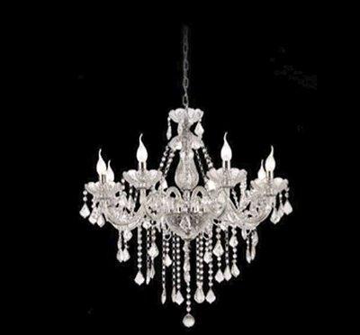 Lustre Candelabro Maly Cristal Conhaque 8 Braços 82x62cm Mantra 8 E14 40W Bivolt 30418 Entradas e Salas