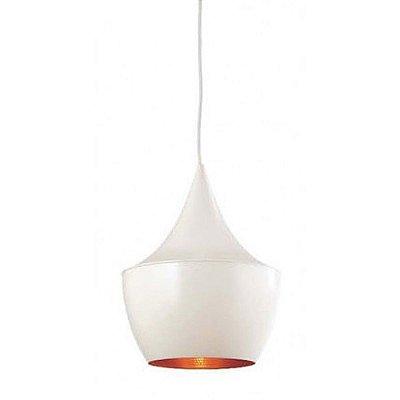 Pendente Tango Vertical Redondo Alumínio Branco 41x24cm Mantra 1 E27 40W Bivolt 2942 Cozinhas e Salas