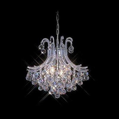 Lustre Bask Candelabro Cromado Cristal Transparente 67x48cm Mantra 4 E14 40W Bivolt 30009 Entradas e Hall