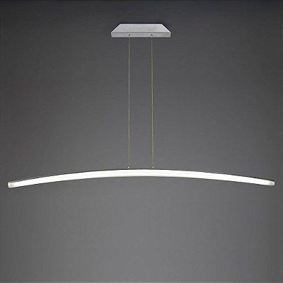 Pendente Hemisferic LED Decorativo Acrílico Alumínio 111x11cm Mantra LED 28W Bivolt 4090 Salas e Hall