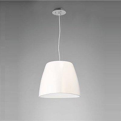 Pendente Triangle Vertical Decorativo Polímero Branco 33x47cm Mantra 1 E27 23W Bivolt 4820 Entradas e Salas