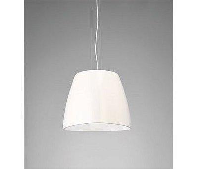 Pendente Triangle Vertical Decorativo Polímero Branco 22x22cm Mantra 1 E27 23W Bivolt 4823 Entradas e Salas