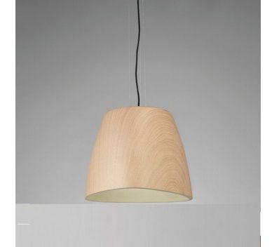 Pendente Triangle Vertical Decorativo Polímero Cor Madeira 22x22cm Mantra 1 E27 23W Bivolt 4824 Entradas e Salas