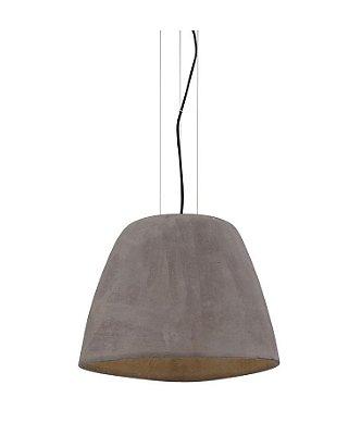 Pendente Triangle Vertical Decorativo Polímero Cor Cimento 22x22cm Mantra 1 E27 23W Bivolt 4825 Entradas e Salas