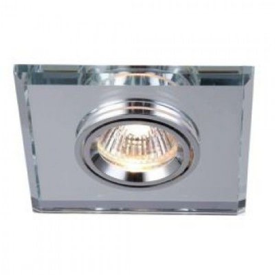 Spot Embutido Quadrado Cristal Espelhado 1x11cm Mantra 1 GU10 8W Dicróica Bivolt 30162 Escritórios e Quartos