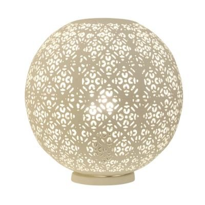 Abajur Gaya Esfera Metal Branco 30x30cm Bella Iluminação 1 E27 Bivolt ABI0008PBR Mesas e Salas