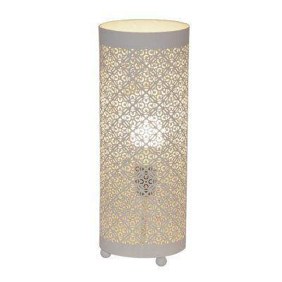 Abajur Gaya Tubular Metal Branco 40x18cm Bella Iluminação 1 E27 Bivolt ABI0009PBR Mesas e Salas