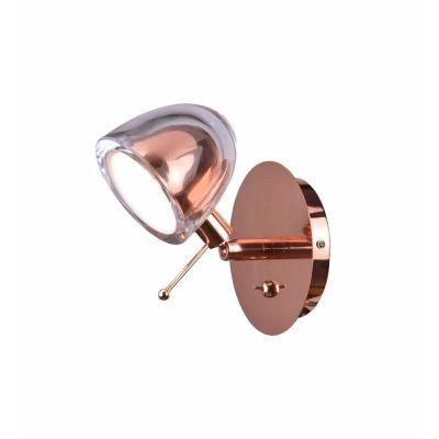 Arandela Interna Metal Vidro Cobre 10x11cm Bella Iluminação 1 G9 Halopin 40w AR004CO Corredores e Mesas
