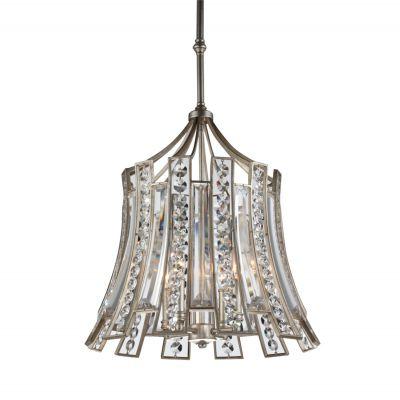 Pendente Jazz Cristal Metal Envelhecido 56x53cm Bella Iluminação 4 E14 Bivolt AS010 Entradas e Salas