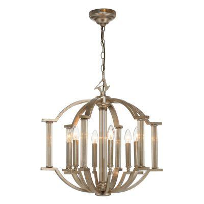 Lustre Lumiere Cristal Metal Envelhecido 55x57cm Bella Iluminação 6 E14 Bivolt AS023 Entradas e Hall
