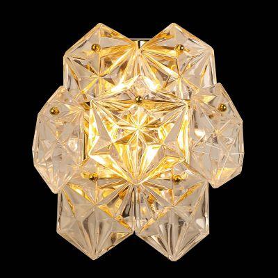 Arandela Zara Cobre Vidro Transparente 26x24,5cm Bella Iluminação 2 G9 Halopin Bivolt BM005B Corredores e Banheiros