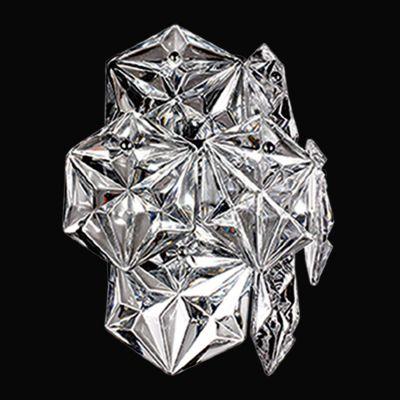 Arandela Zara Cromado Transparente 26x24,5cm Bella Iluminação 2 G9 Halopin Bivolt BM005C Corredores e Banheiros