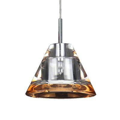 Pendente Soent Vertical Aço Vidro Transparente 8,5x11cm Bella Iluminação 1 G4 Bi-Pino 220V BN003B Cozinhas e Salas