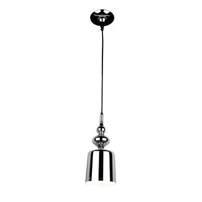 Pendente Istambul Vertical Sino Metal Cromado 35x14cm Bella Iluminação 1 G9 Halopin Bivolt BQ001C Cozinhas e Salas