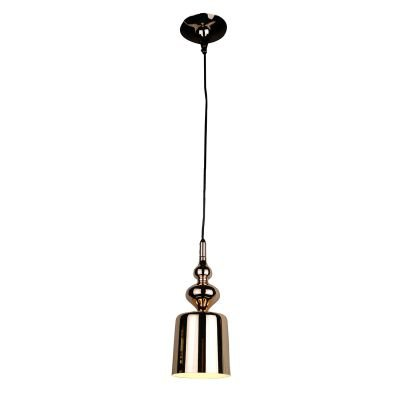 Pendente Istambul Vertical Sino Metal Dourado 35x14cm Bella Iluminação 1 G9 Halopin Bivolt BQ001G Cozinhas e Salas